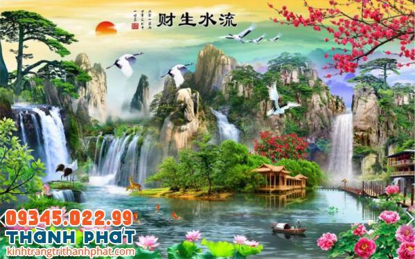 Tranh kính sông núi