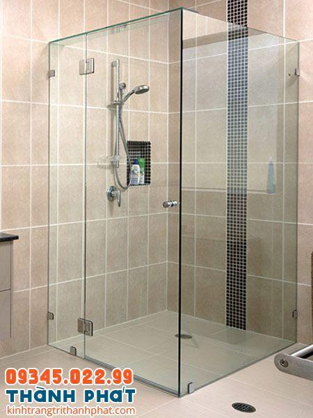 Vách tắm kính 90 độ